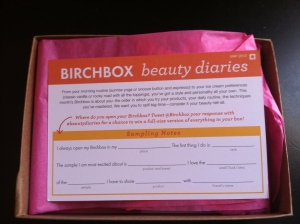 BIRCHBOX beauty diaries