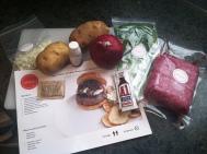 Plated Burger Ingredients