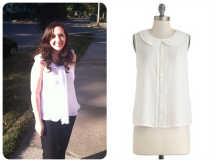 Le Tote | White Peter Pan Blouse